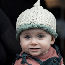 Load image into Gallery viewer, Baby Hat, Natural & Green