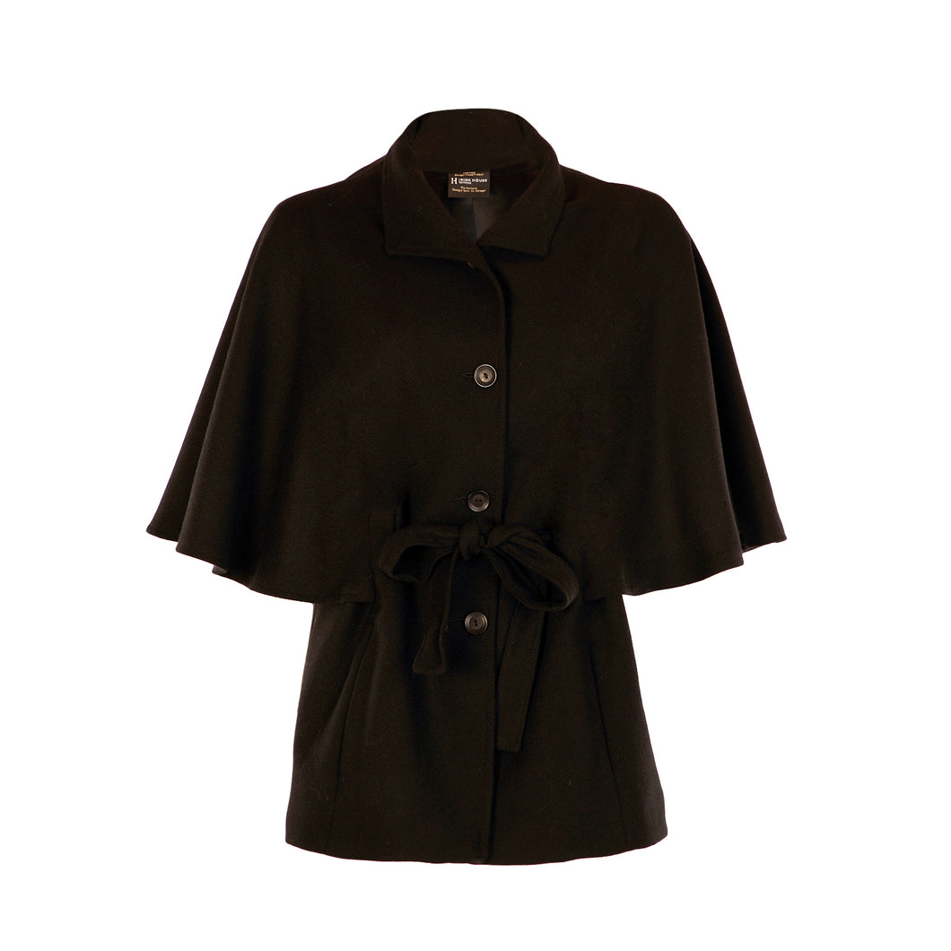 Belted Cape - Black