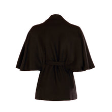 Load image into Gallery viewer, Belted Cape - Black