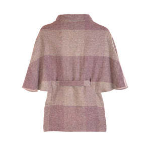 Donegal Tweed Belted Cape - Heather Square