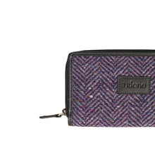 Load image into Gallery viewer, Billy Wallet, Purple Herringbone