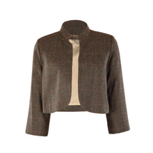 Load image into Gallery viewer, Tweed Bolero Jacket - Grey/Green