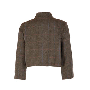 Tweed Bolero Jacket - Grey/Green