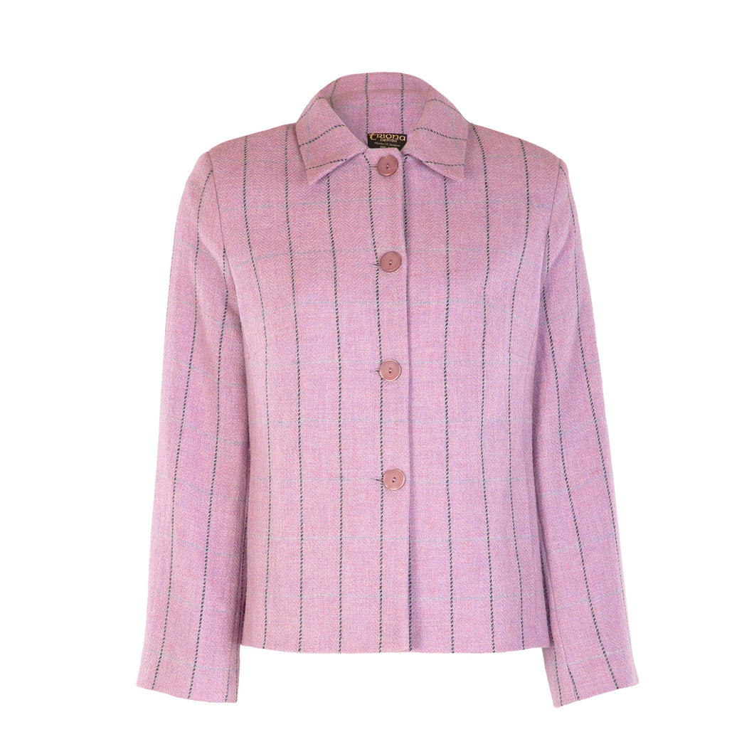 Boxy Collar Jacket - Lilac