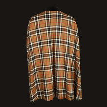 Load image into Gallery viewer, Donegal Tweed Cape - Camel & Black Check