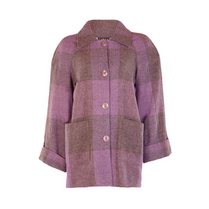 Tweed Car Coat - Lilac Square