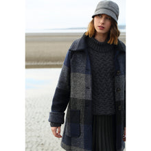 Load image into Gallery viewer, Shaped Neck Aran Sweater, Charcoal