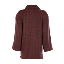 Load image into Gallery viewer, Tweed Car Coat - Cranberry