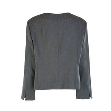 Load image into Gallery viewer, Chanel Style Tweed Jacket - Teal Herringbone