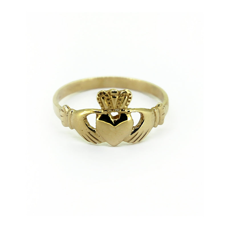 Claddagh Ring, Yellow Gold