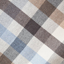 Load image into Gallery viewer, Light Blue & Cream Check Donegal Tweed Fabric