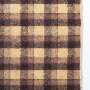 Brown & Camel Check Donegal Tweed Fabric