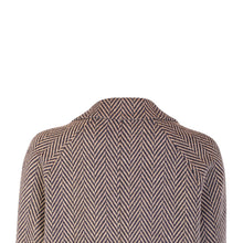 Load image into Gallery viewer, Dearbhla Jacket, Navy & Camel Herringbone