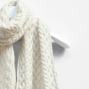 Cable Scarf, Natural
