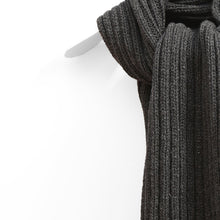 Load image into Gallery viewer, Chunky Ribbed Scarf, Charcoal Mix