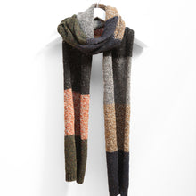 Load image into Gallery viewer, Colour Block Oversized Scarf, Forager