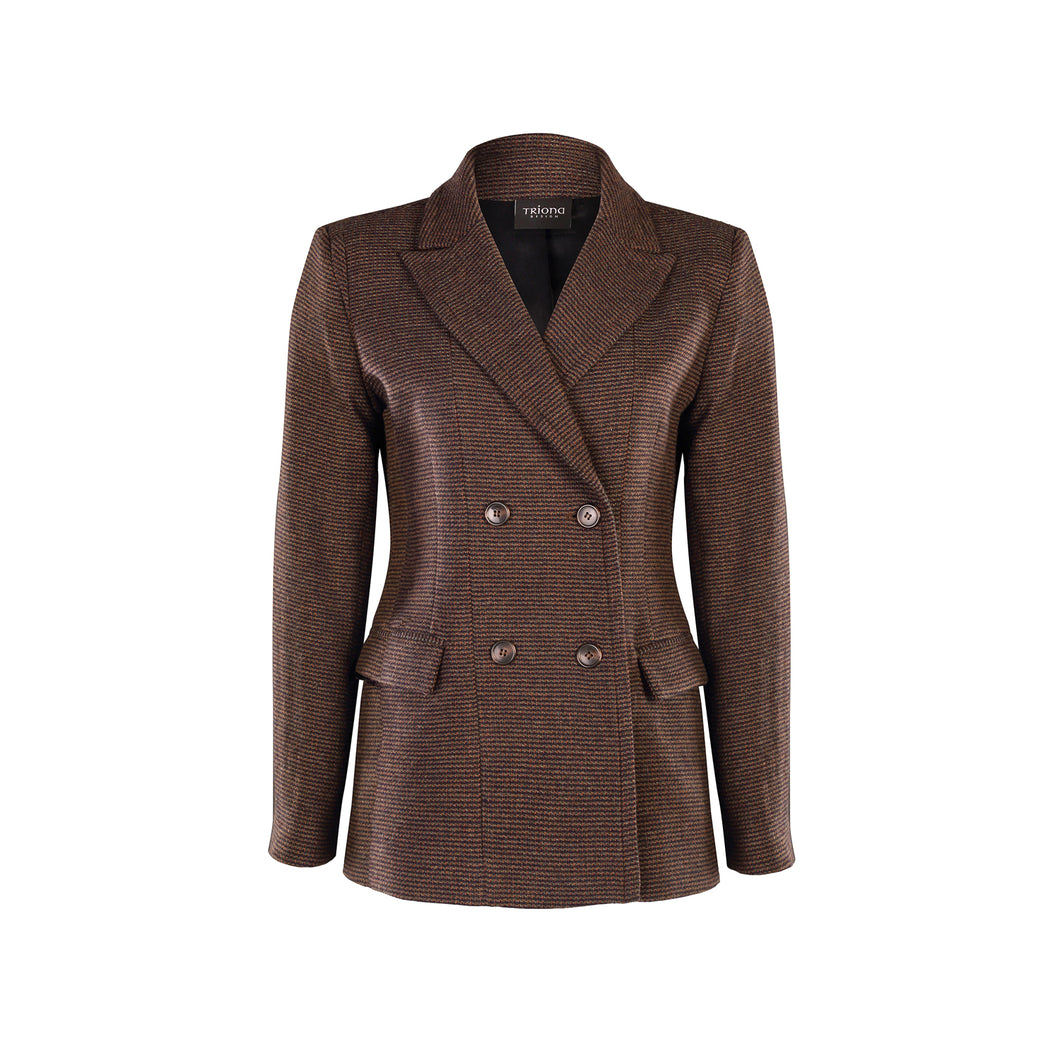 Double Breasted Jacket, Brown