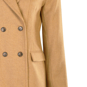 Double Breasted Jacket, Camel