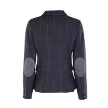 Load image into Gallery viewer, Double Vent Tweed Jacket - Navy Windowpane