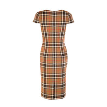 Load image into Gallery viewer, Tweed Dress - Tan Check