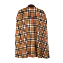 Load image into Gallery viewer, Edge to Edge Tweed Cape - Tan Check