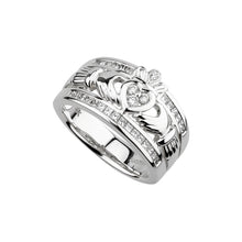 Load image into Gallery viewer, The Emigration Claddagh Ring, White Gold