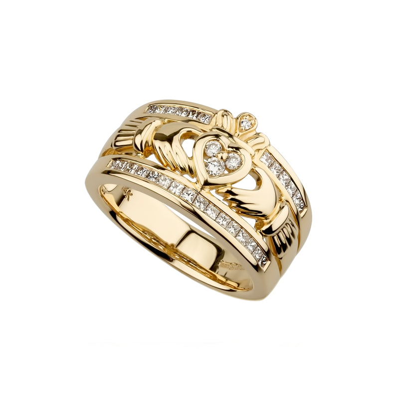 The Emigration Claddagh Ring, Yellow Gold