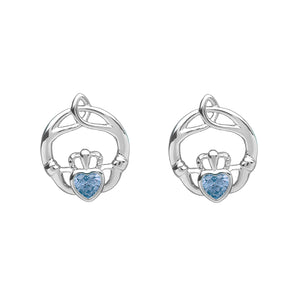 Birthstone Stud Earrings March