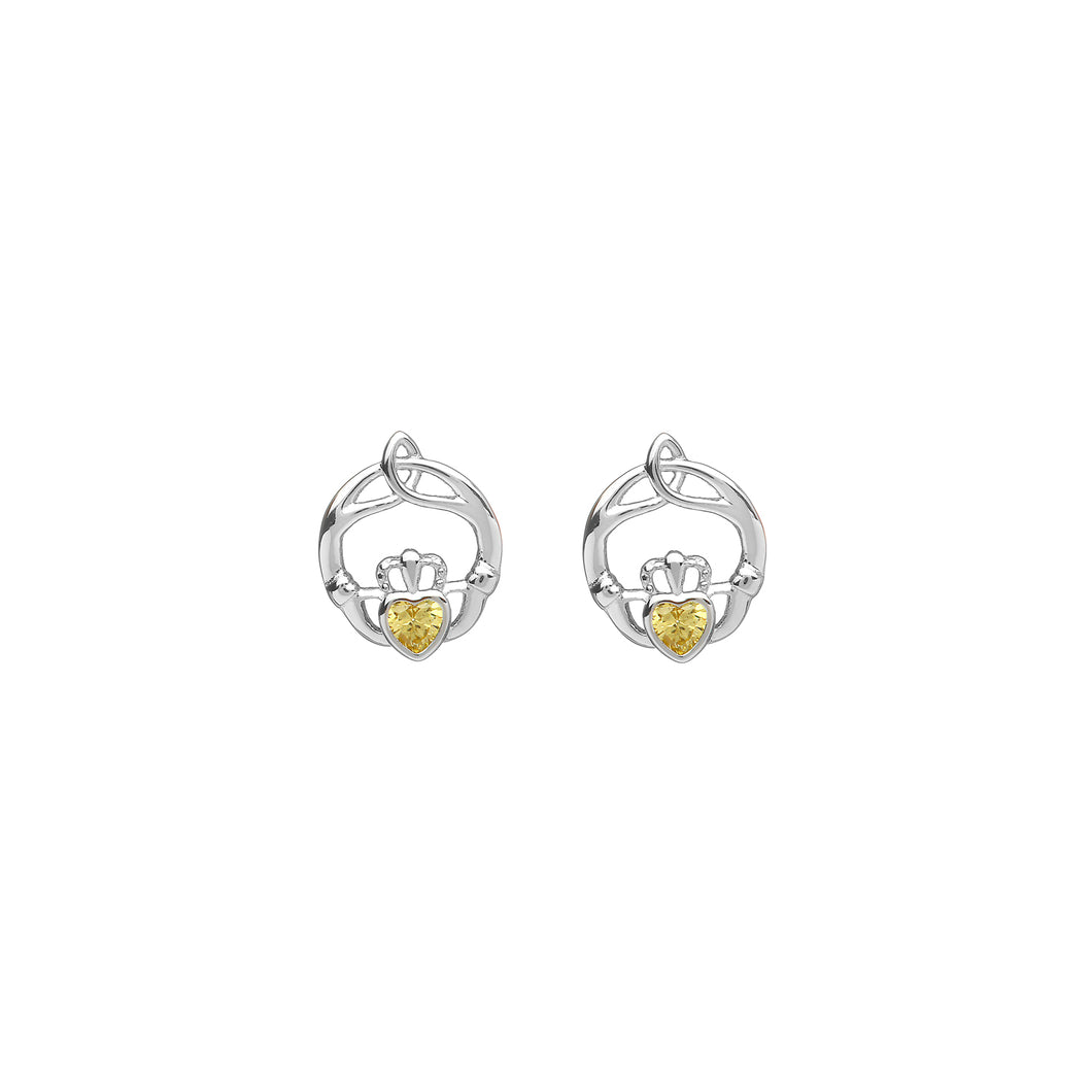 Birthstone Stud Earrings November