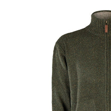 Load image into Gallery viewer, Fine Full Zip Neck Sweater, Green