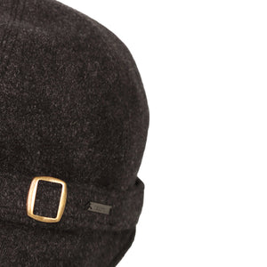 Donegal Tweed Flapper Cap, Black