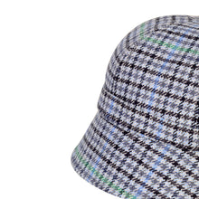 Load image into Gallery viewer, Donegal Tweed Flapper Cap, Blue Check