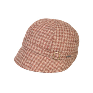 Donegal Tweed Flapper Cap, Brown Check