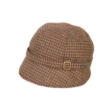 Load image into Gallery viewer, Donegal Tweed Flapper Cap, Brown & Wine