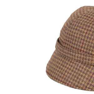Donegal Tweed Flapper Cap, Brown & Wine