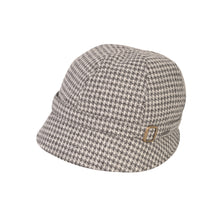 Load image into Gallery viewer, Donegal Tweed Flapper Cap, Grey Square