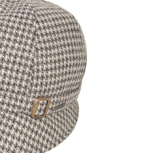 Donegal Tweed Flapper Cap, Grey Square