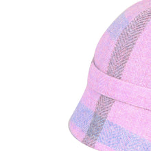Load image into Gallery viewer, Donegal Tweed Flapper Cap, Lilac & Blue