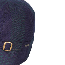 Load image into Gallery viewer, Donegal Tweed Flapper Cap, Navy Stripe
