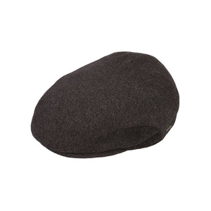 Flat Cap, Black with Ear Flaps