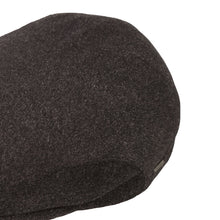 Load image into Gallery viewer, Flat Cap, Black with Ear Flaps