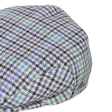 Load image into Gallery viewer, Flat Cap, Blue Houndstooth