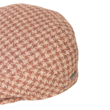 Load image into Gallery viewer, Flat Cap, Brown Houndstooth with Ear Flaps