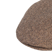 Load image into Gallery viewer, Flat Cap, Brown Herringbone