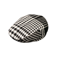 Load image into Gallery viewer, Flat Cap, Black & White Check