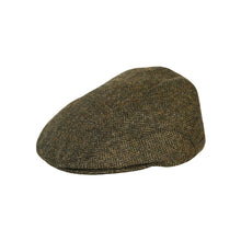 Load image into Gallery viewer, Flat Cap, Green Herringbone