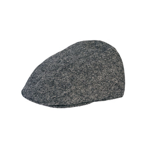 Flat Cap, Grey Salt & Pepper with Ear Flaps