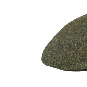 Flat Cap, Green Salt & Pepper with Ear Flaps