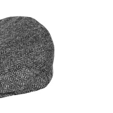 Load image into Gallery viewer, Flat Cap, Grey Herringbone