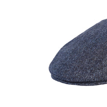 Load image into Gallery viewer, Flat Cap, Navy Herringbone